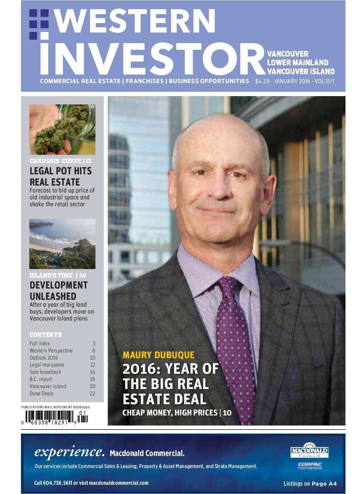 Press Release: Western Investor Ad – Jan 2016