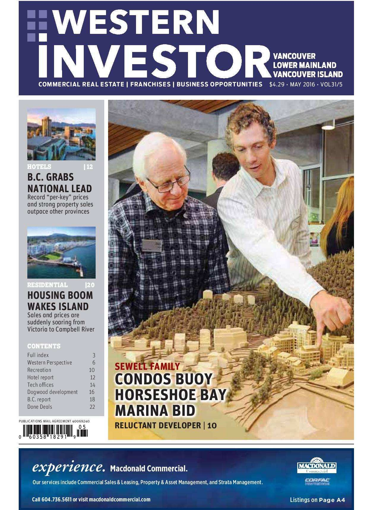 Press Release: Western Investor Ad – May 2016