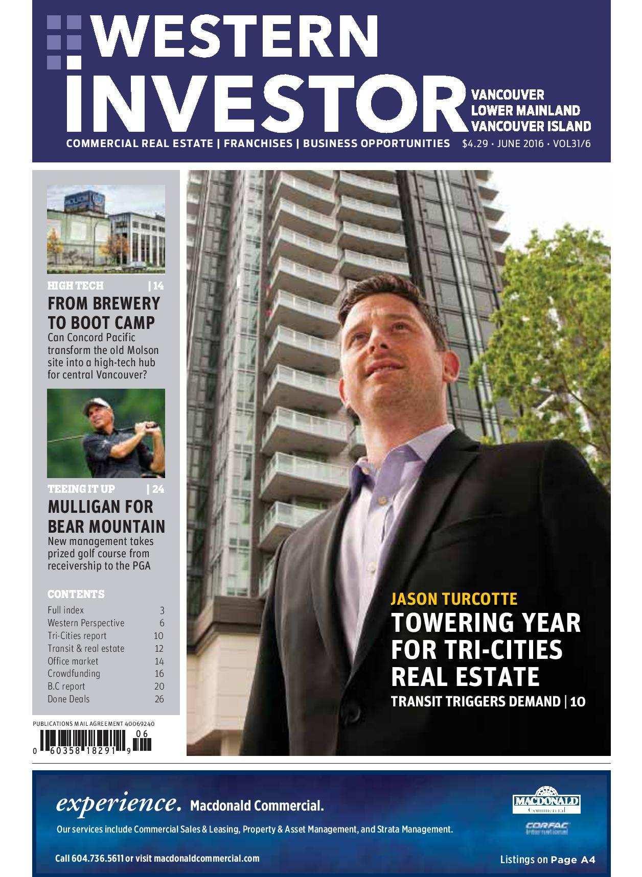 Press Release: Western Investor Ad – Jun 2016