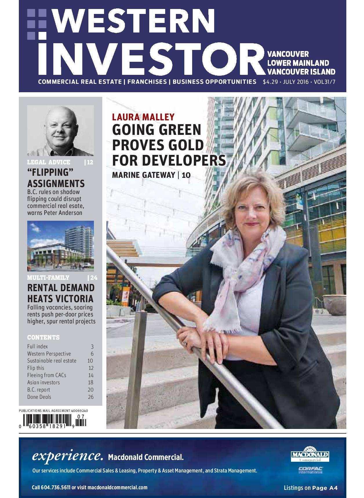 Press Release: Western Investor Ad – Jul 2016