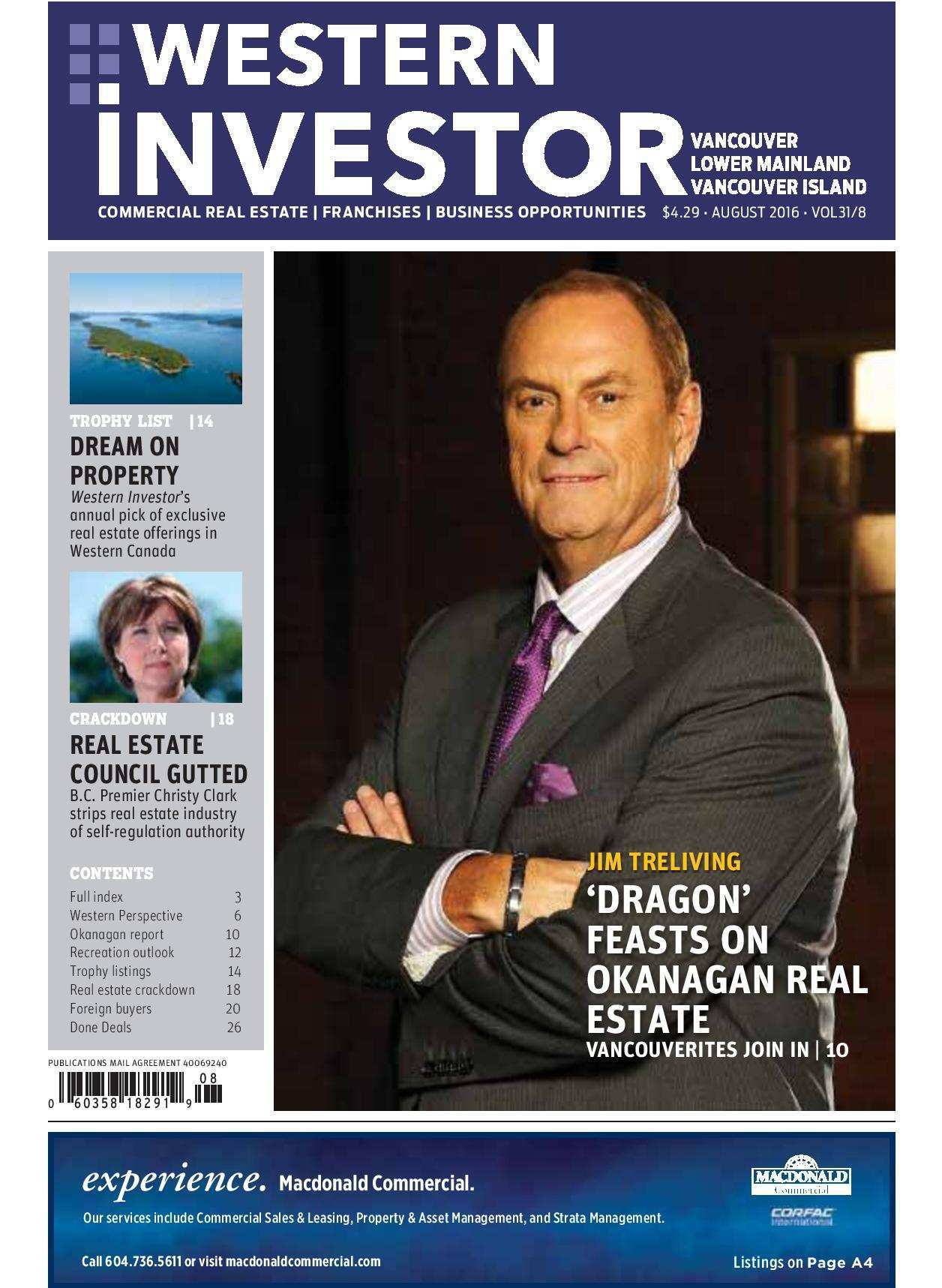 Press Release: Western Investor Ad – Aug 2016