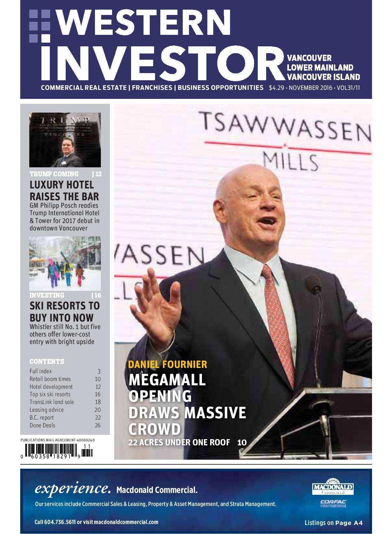 Press Release: Western Investor Ad – Nov 2016