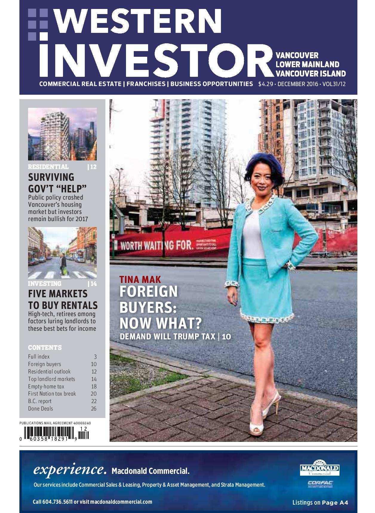 Press Release: Western Investor Ad – Dec 2016
