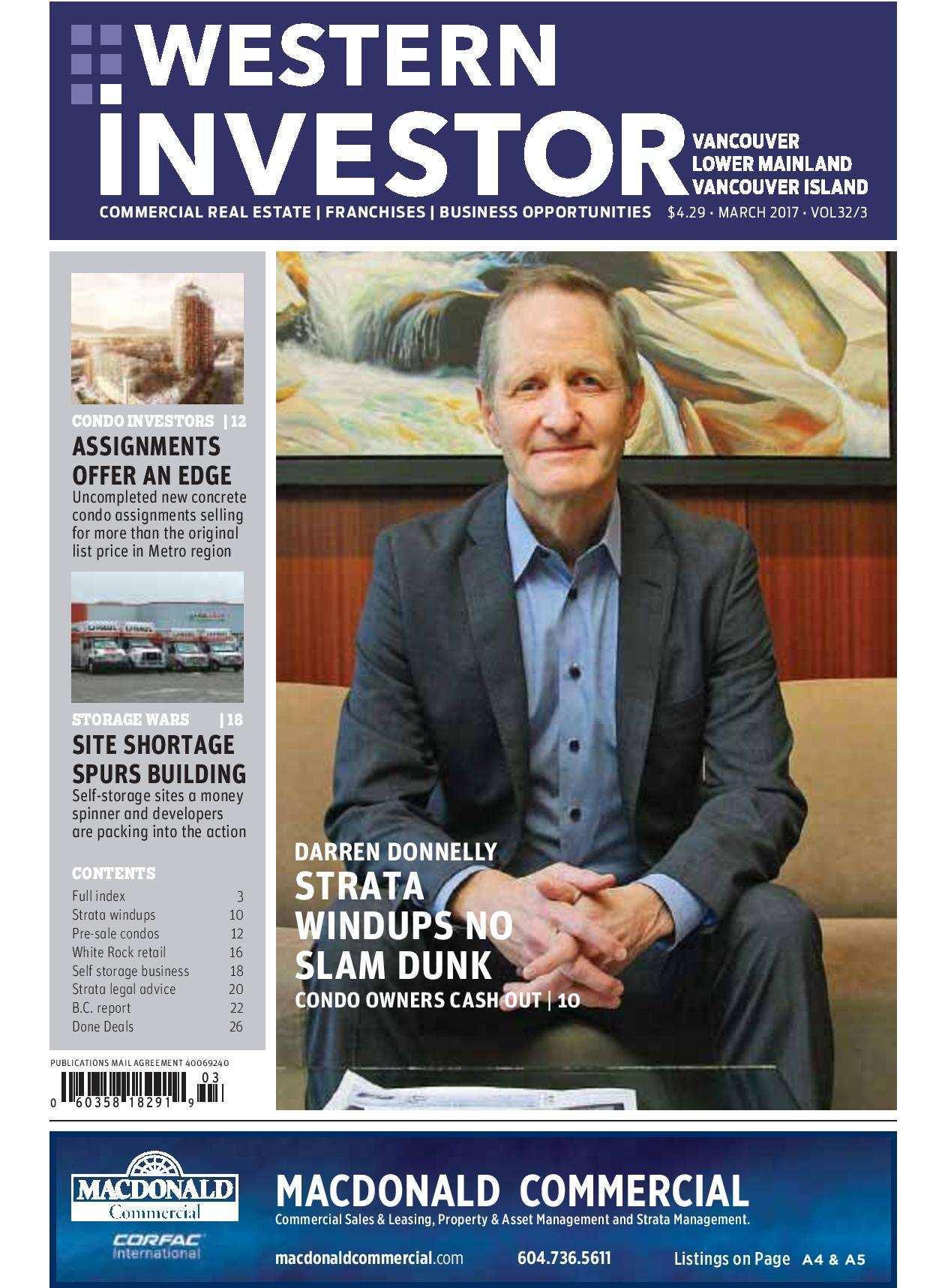 Press Release: Western Investor Ad – March 2017