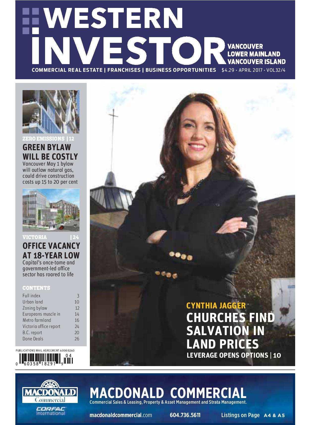 Press Release: Western Investor Ad – April 2017