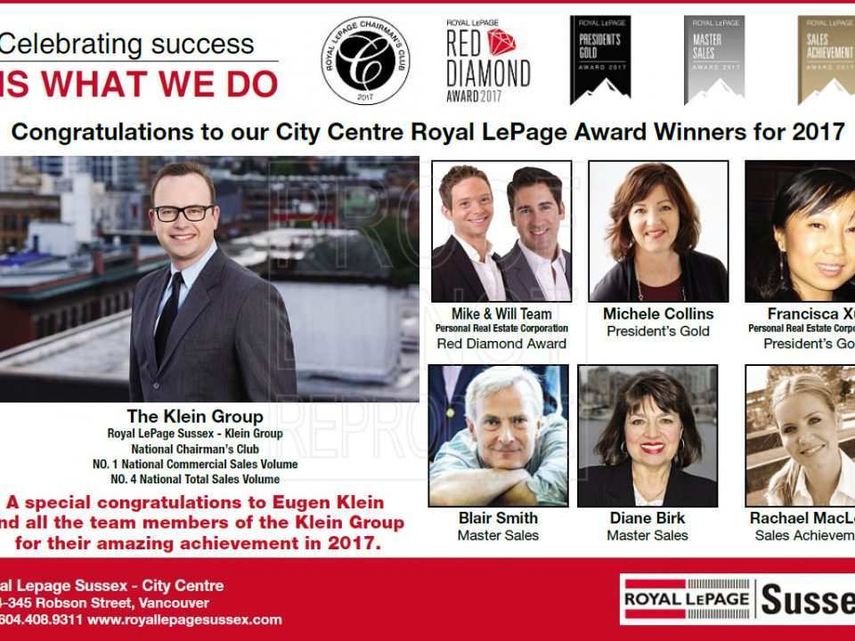 2017 Royal LePage Award Winners