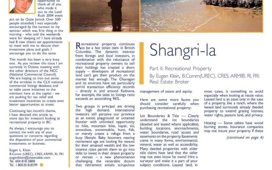 Feature Article: Shangri-La Part II: Recreational Property