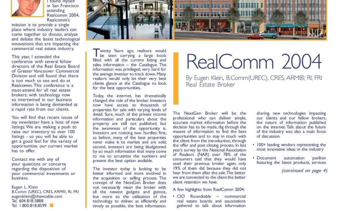 Feature Article: Realcomm 2004, San Francisco