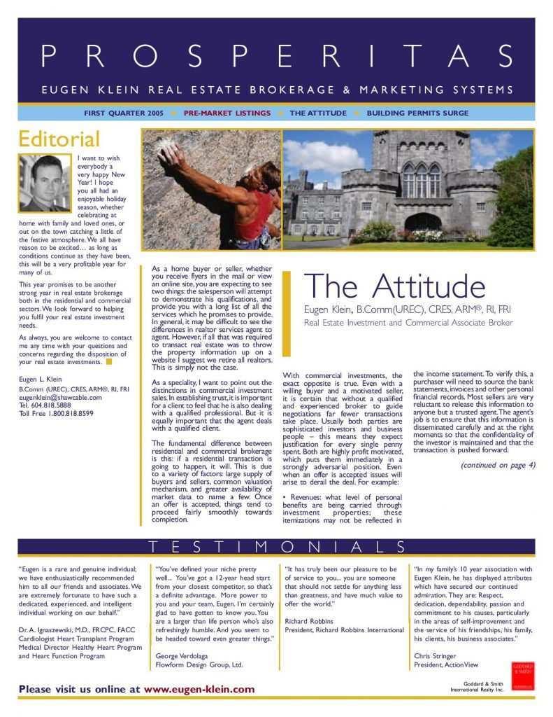 Prosperitas 2005 Q1 Attitude Article