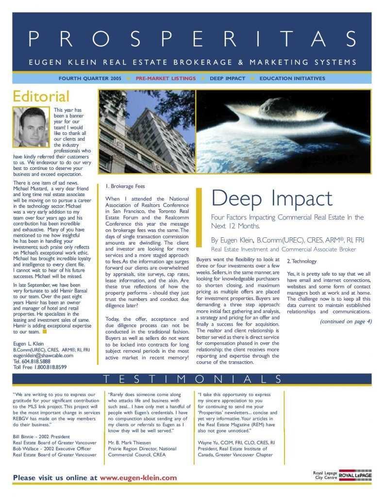 Prosperitas 2005 Q4 Deep Impact Article