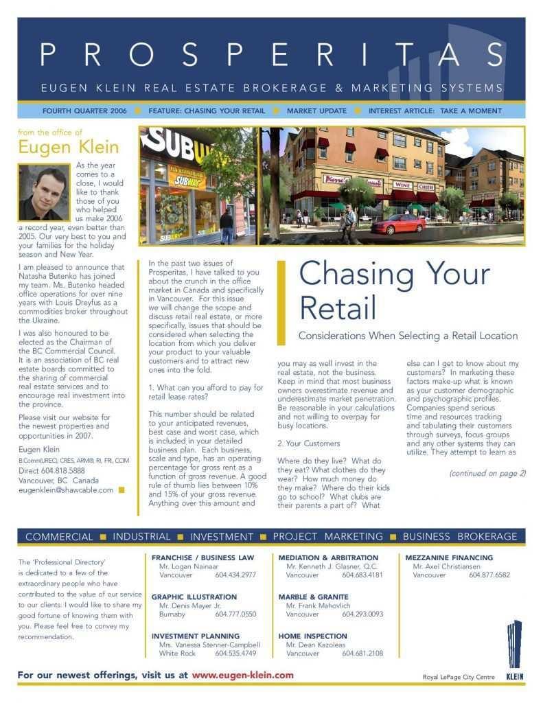 Prosperitas 2006 Q4 Retail Article