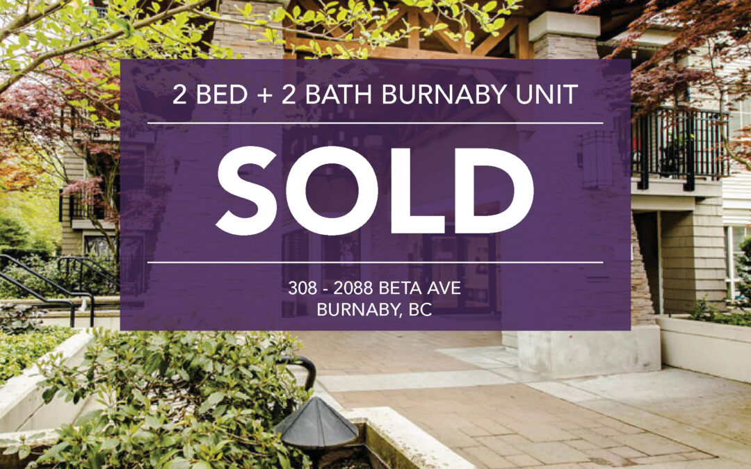 SOLD: 308 – 2088 Beta Ave