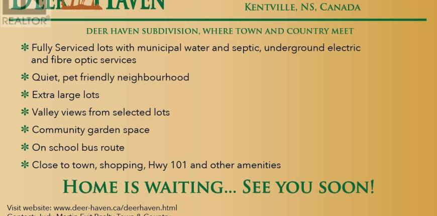 Lot 48 White Tail Court, Kentville, Nova Scotia, Canada B4N0B7, Register to View ,For Sale,201722594